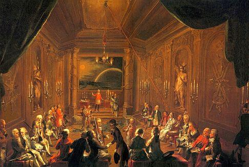 Loge maçonnique à Vienne vers 1790